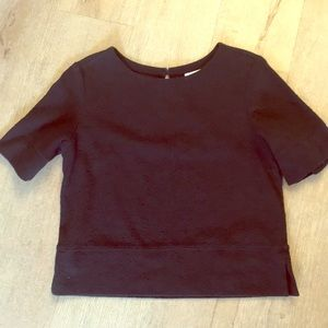 Tops - Boxy cotton top with back cutout